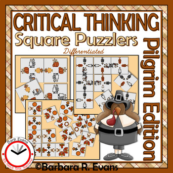 CRITICAL THINKING PUZZLES Thanksgiving Activity Brain Teasers Differentiation