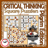 CRITICAL THINKING PUZZLES Thanksgiving Activity Brain Teasers Differentiation GT