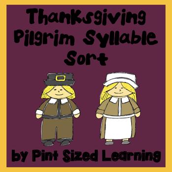 Thanksgiving Pilgrim Syllable Sort
