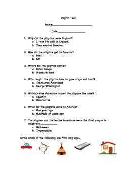 Pilgrim Test or Quiz
