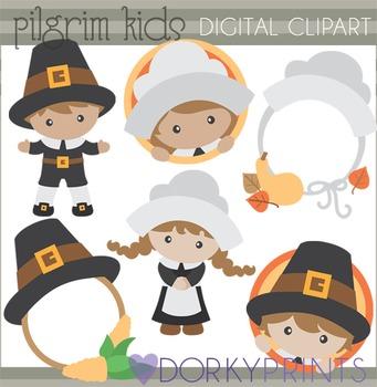 Pilgrim Thanksgiving Clip Art