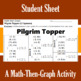 Pilgrim Topper - A Math-Then-Graph Activity - Solve 15 Systems
