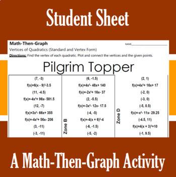 Pilgrim Topper - A Math-Then-Graph Activity - Finding Vertices