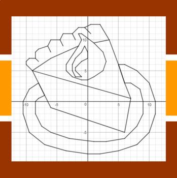 Thanksgiving - MMM! Pumpkin Pie - A Coordinate Graphing Activity