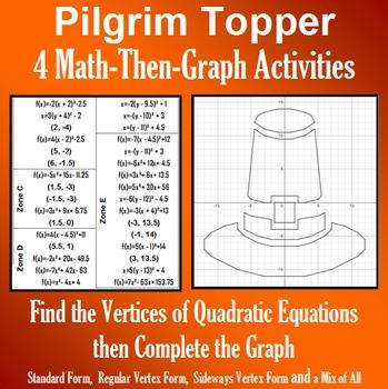 Pilgrim Topper Finding Vertices 4 Math Then Graph Activities