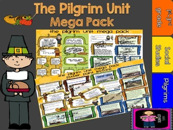 Pilgrim Unit Mega Pack- includes power point lessons and activities