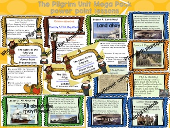 Pilgrim Unit Mega Pack- includes power point lessons, activities, and test