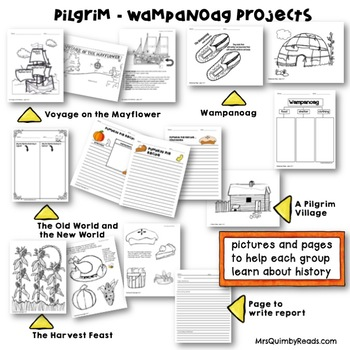 Pilgrim- Wampanoag Collaborative Group Work -Literacy and History-Thanksgiving