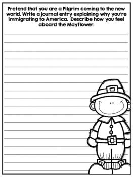 Pilgrim Writing Prompts