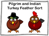 Pilgrim and Indian Turkey Feather Sorting Activity