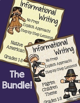 Pilgrim and Native American Informational Writing ~Bundle~