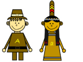 Pilgrim and Native American Letter Match