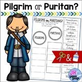 Pilgrim or Puritan? Cut and Paste Sorting Activity