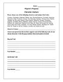 Pilgrim's Progress Character Analysis Activity - John Bunyan