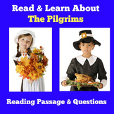 Pilgrims Worksheet | Reading Comprehension Passage