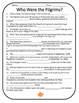 Thanksgiving Activity - Pilgrims Informational Text