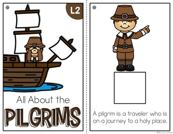 Pilgrims Adapted Book { Level 1 and Level 2 } All About the Pilgrims