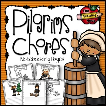 Pilgrims Chores Notebooking Pages