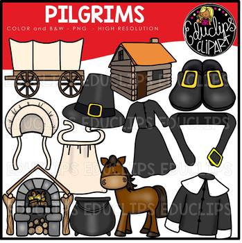 Pilgrims Clip Art Bundle {Educlips Clipart}