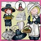 Pilgrims Clip Art- Color and B&W.