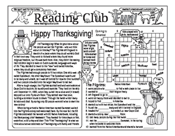 Pilgrims Coming to America (Thanksgiving) Two-Page Activity Set