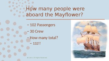 Pilgrims Comprehension Information PowerPoint