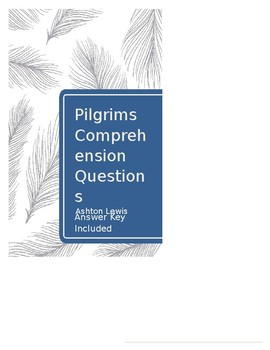 Pilgrims Comprehension Questions