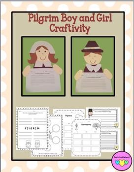 Pilgrim Craftivity & Printables