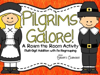 Pilgrims Galore {Addition Without Regrouping}