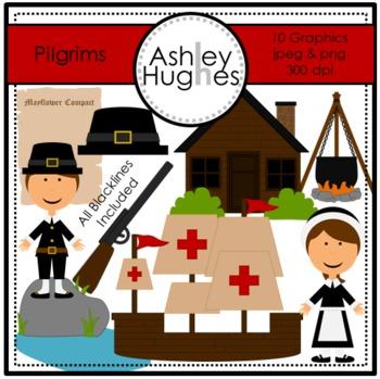 Pilgrims Clipart {A Hughes Design}