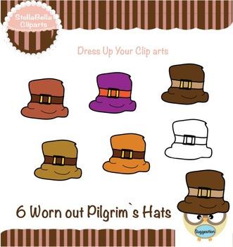 Pilgrim's Hats Clipart