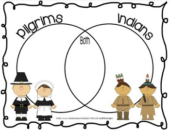 Pilgrims & Indians Venn Diagram *FREEBIE*