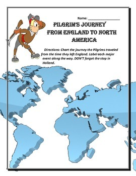 Pilgrims Journey to America (Thanksgiving beginning)