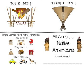 Pilgrims & Native Americans Foldable Readers ~5 Books & Printables~ Color & B&W