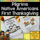 First Thanksgiving Pilgrims and Native Americans Booklet Book