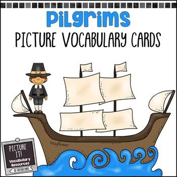 Pilgrims Picture Vocabulary Cards