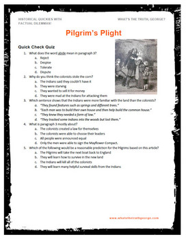 Pilgrims Plight podcast Classroom Package