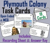 Plymouth Colony Task Cards: Indians, Pilgrims, Mayflower Compact, etc.