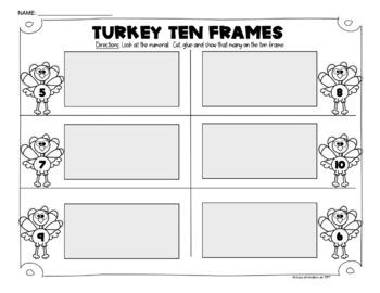 Pilgrims, Turkeys, Math Common Core and More! {Kindergarten}