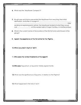 Pilgrims - Webquest with Key