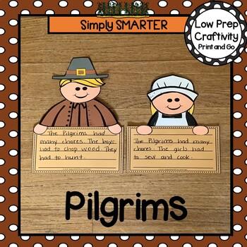 Pilgrims Writing Cut and Paste Craftivity