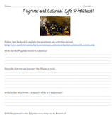 Pilgrims and Colonial Life WebQuest