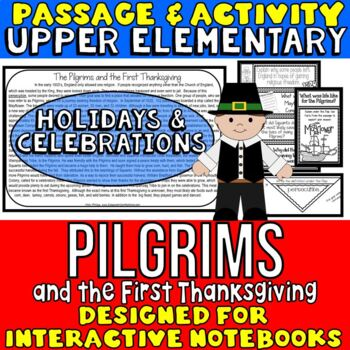 Pilgrims and First Thanksgiving Reading Passage and Questions