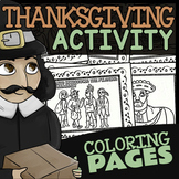 Thanksgiving Coloring Pages ★ Thanksgiving with Pilgrims and Wampanoag Indians