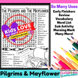 Pilgrims and Mayflower Word Search Activity: Perfect for a