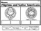Pilgrims and Native Americans NO PREP Kindergarten Lang. Arts Pack - Common Core