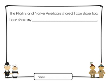 Pilgrims and Native Americans Shared {Thanksgiving Writing}