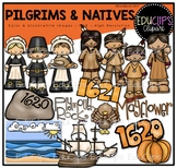 Pilgrims and Natives Clip Art Bundle {Educlips Clipart}