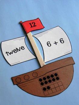 Pilgrims and Pirates Math Puzzles to 20