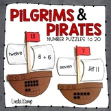 Pilgrims and Pirates Math Number Puzzles to 20